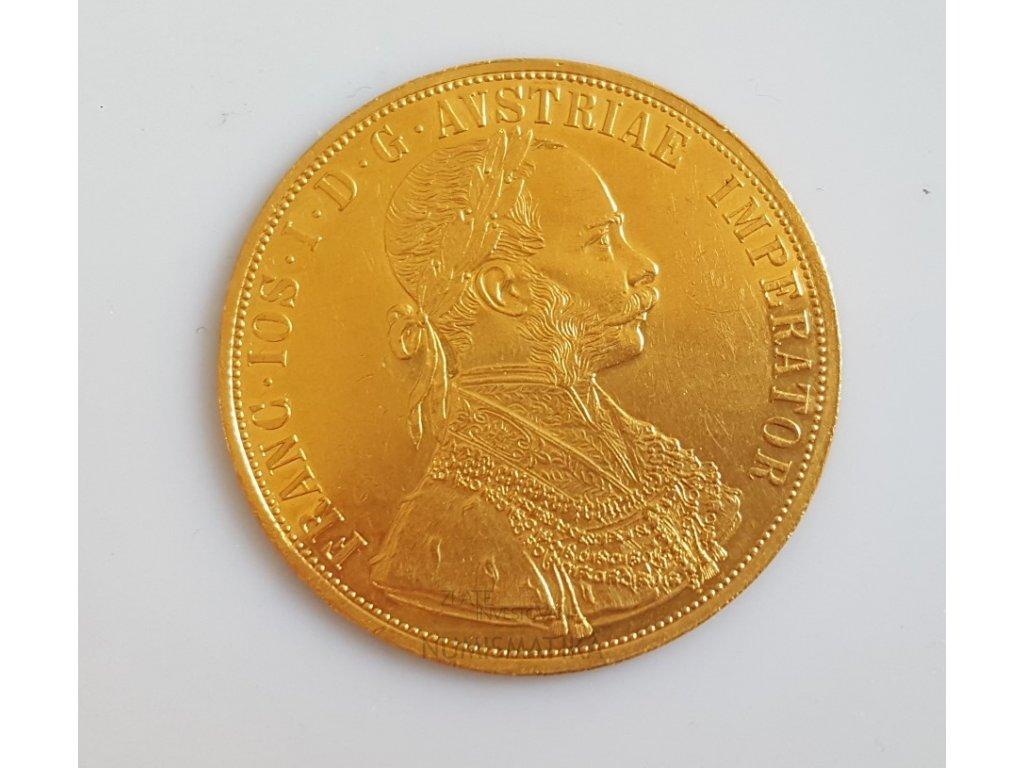 Zlatý 4 dukát 1914