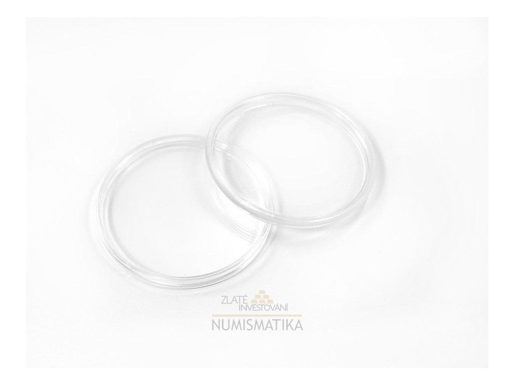 Plastová kapsle na mince o průměru 33 mm
