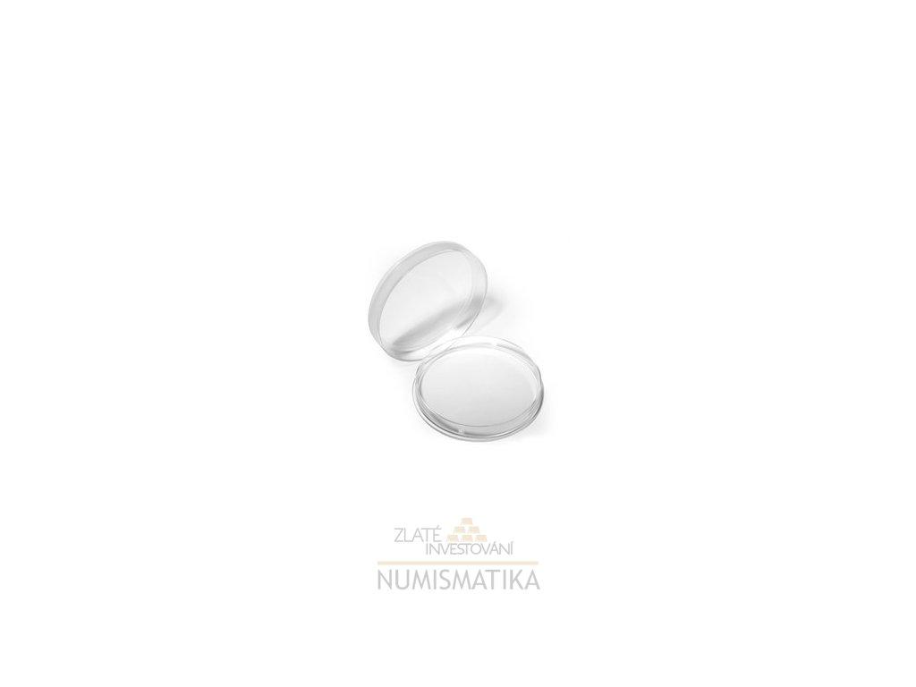 Plastová kapsle na mince o průměru 23 mm