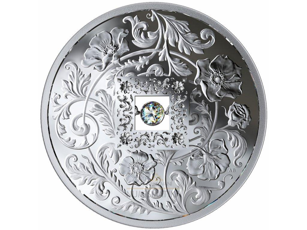 Stříbrná mince s diamantem Sparkle of the heart 2019