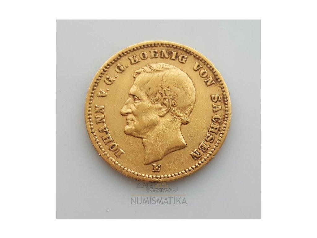 Zlatá 20 Marka-Johan V. saský král  1854-1873