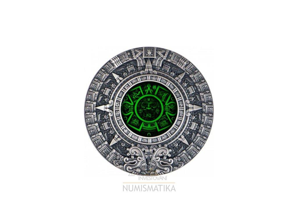 Stříbrná mince Aztécký kalendář 2 Oz