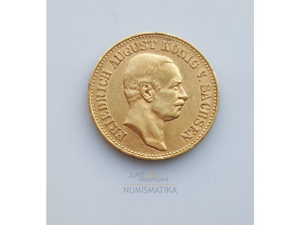 Zlatá 20 marka1905 E