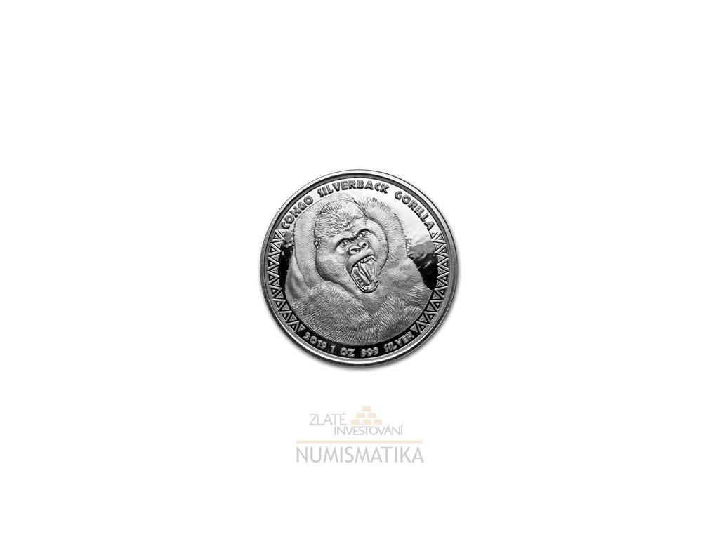 Stříbrná mince Gorila 2019 1 Oz