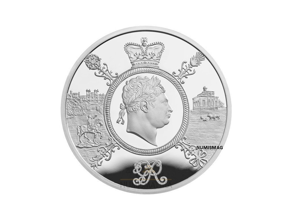 REIGN OF GEORGE III 2020 UK £5 SILVER PROOF PIEDFORT COIN