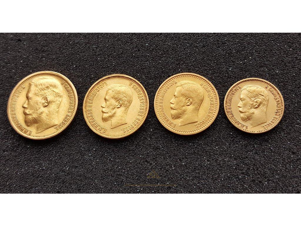 Set zlatých rublů Mikuláš II.