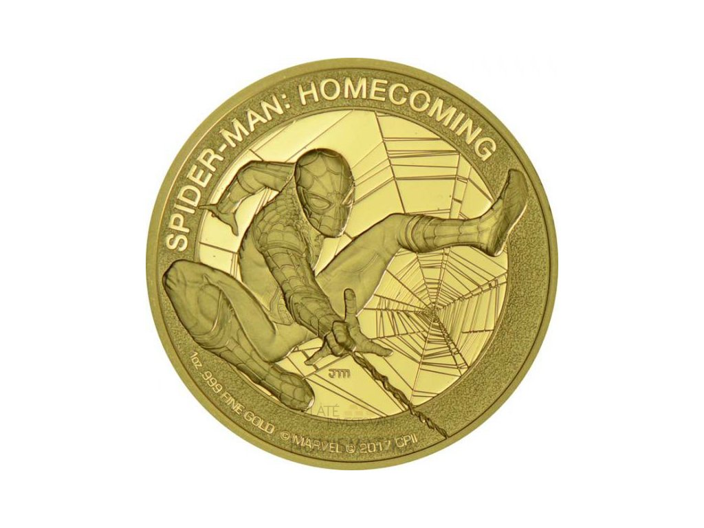 INVESTIČNÍ ZLATÁ MINCE SPIDER-MAN: HOMECOMING 1 OZ PROOF