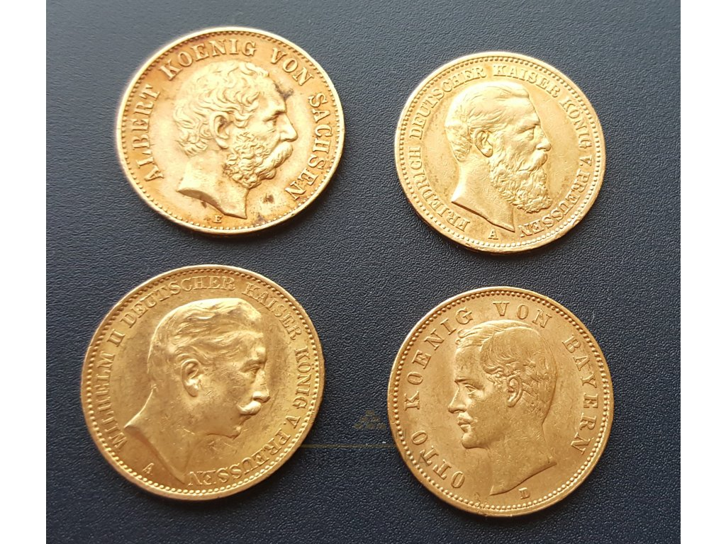 Zlatý set 20 marek -4 mince