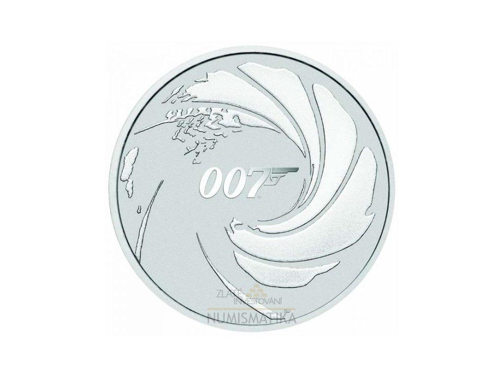 Stříbrná mince 2020 James Bond 007 1oz