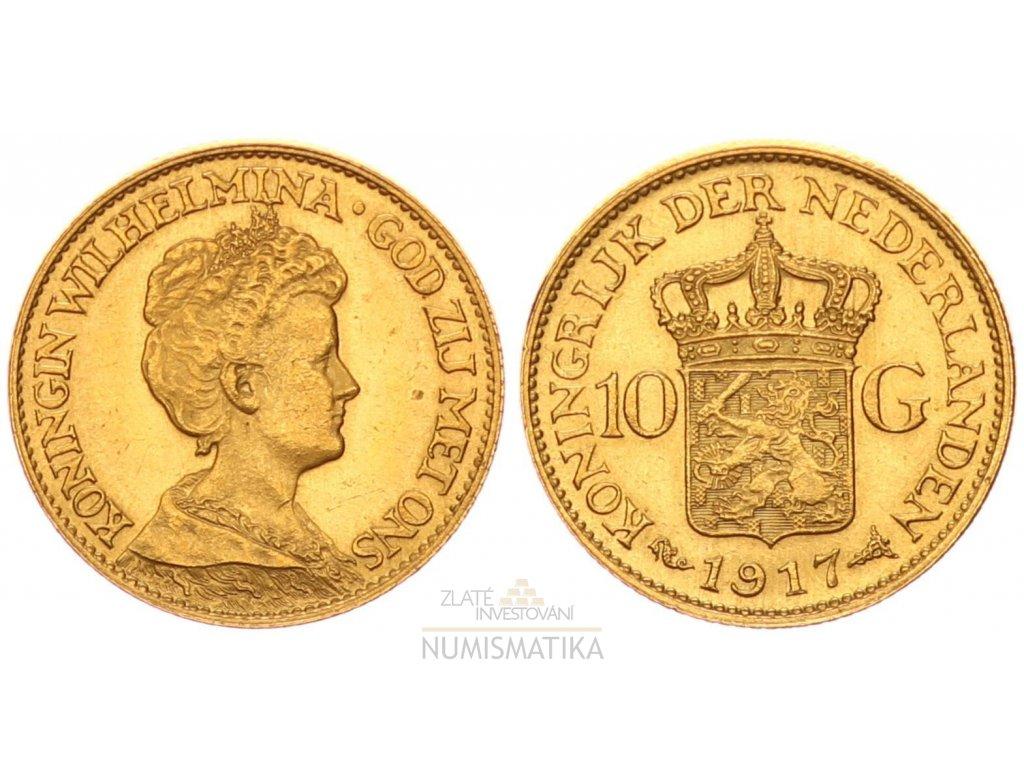 Zlatý 10 gulden Wilhelmina