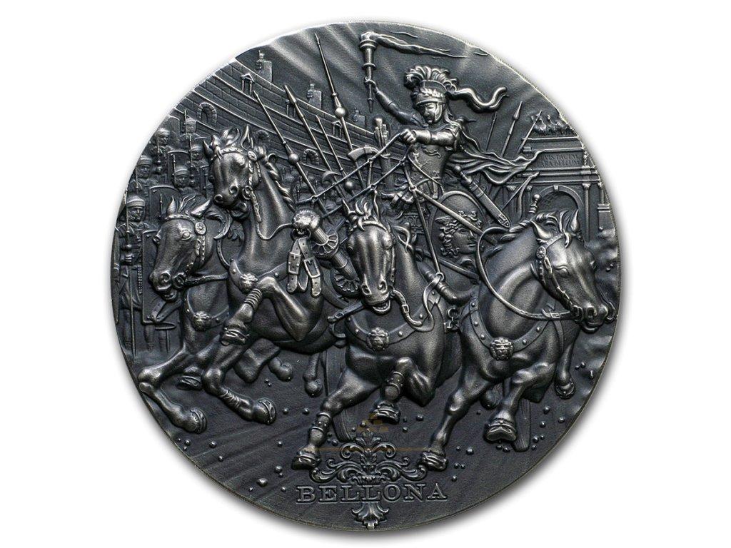 Sběratelská stříbrná mince Řím bohové- Bellona 2 Oz