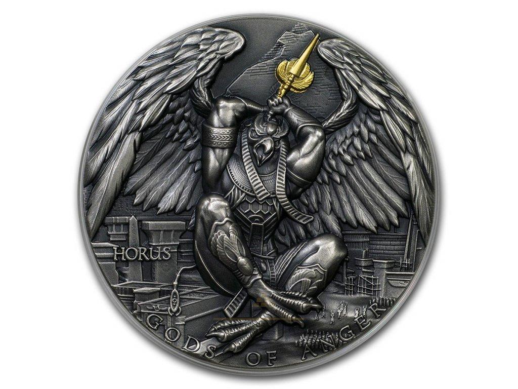 Sběratelská stříbrná mince Bohové hněvu - Horus 2 Oz 2020