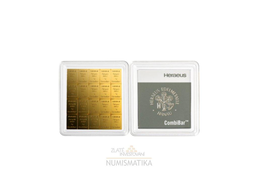 Investiční zlatý slitek Heraeus combibar 20g