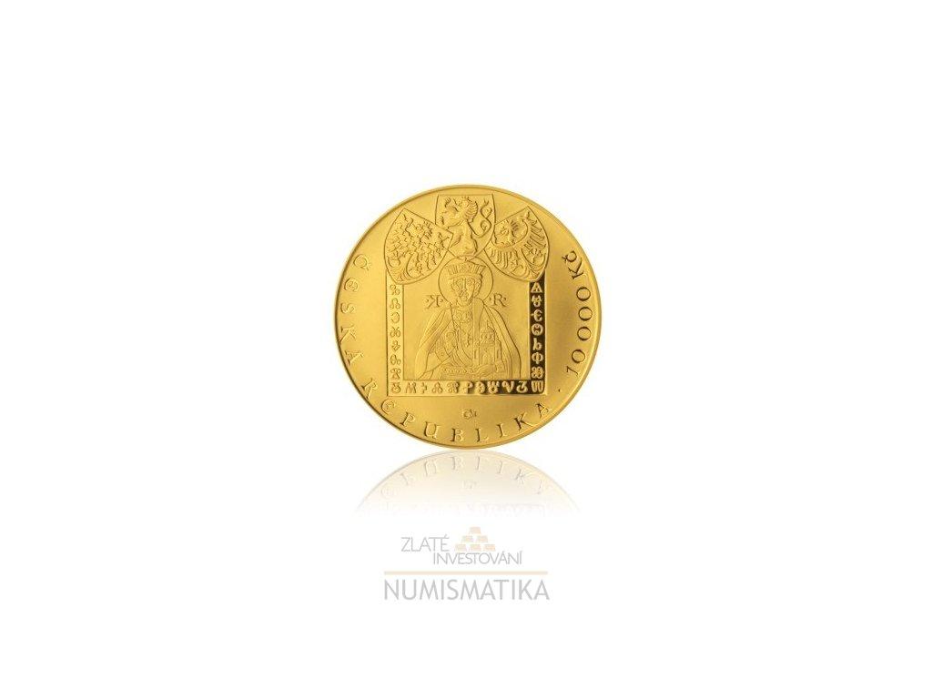 Zlatá mince Příchod věrozvěstů Konstatina a Metoděje 2013- proof