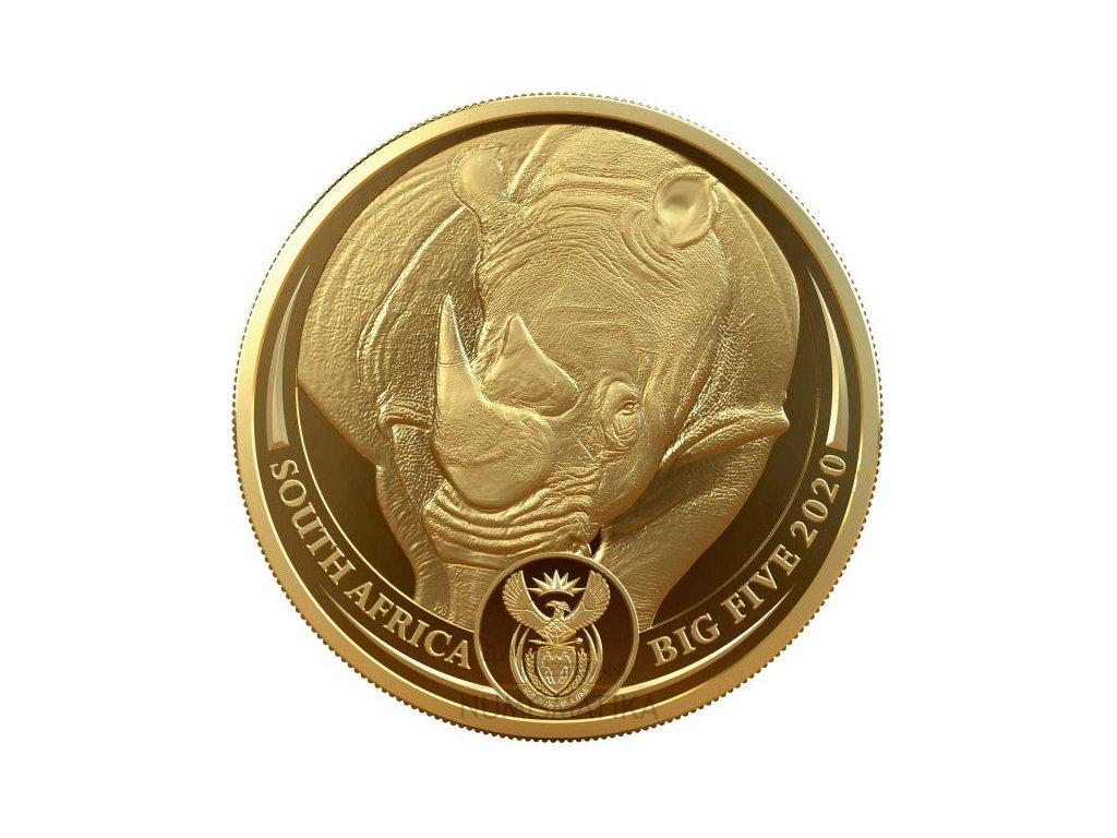 Zlatá moderní mince Nosorožec 2020 proof 1 Oz