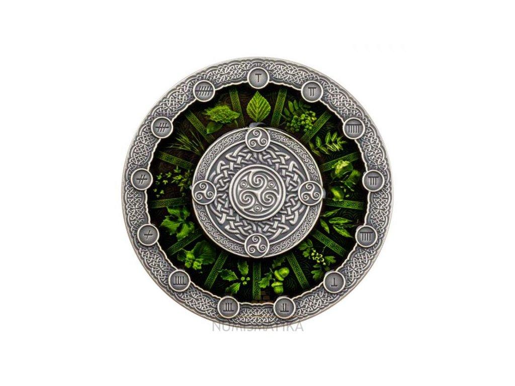 Stříbrná moderní mince Keltský kalendář 2 Oz 2020
