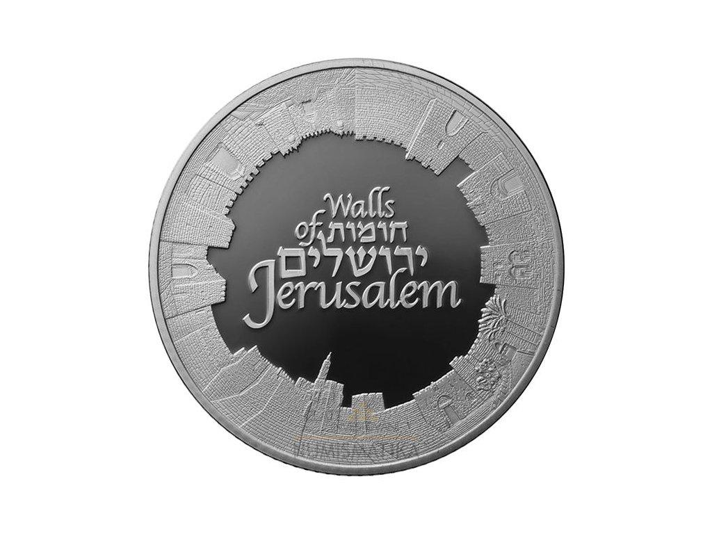 STŘÍBRNÁ MINCE WALLS OF JERUSALEM 1 OZ 2018