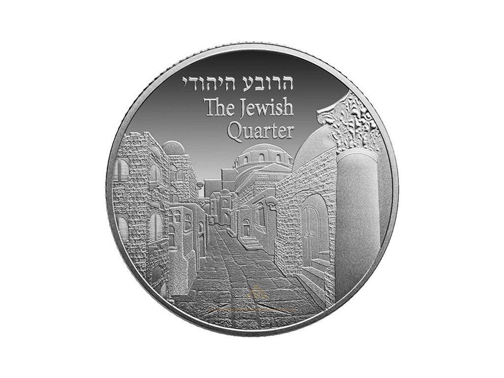 Stříbrná mince The Jewish Quarter 1 Oz 2017