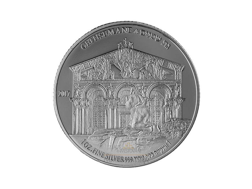 Stříbrná mince Gethsemane 1 Oz 2017