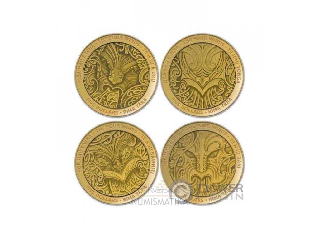 Zlaté mince maorské umění 2020-Four winds