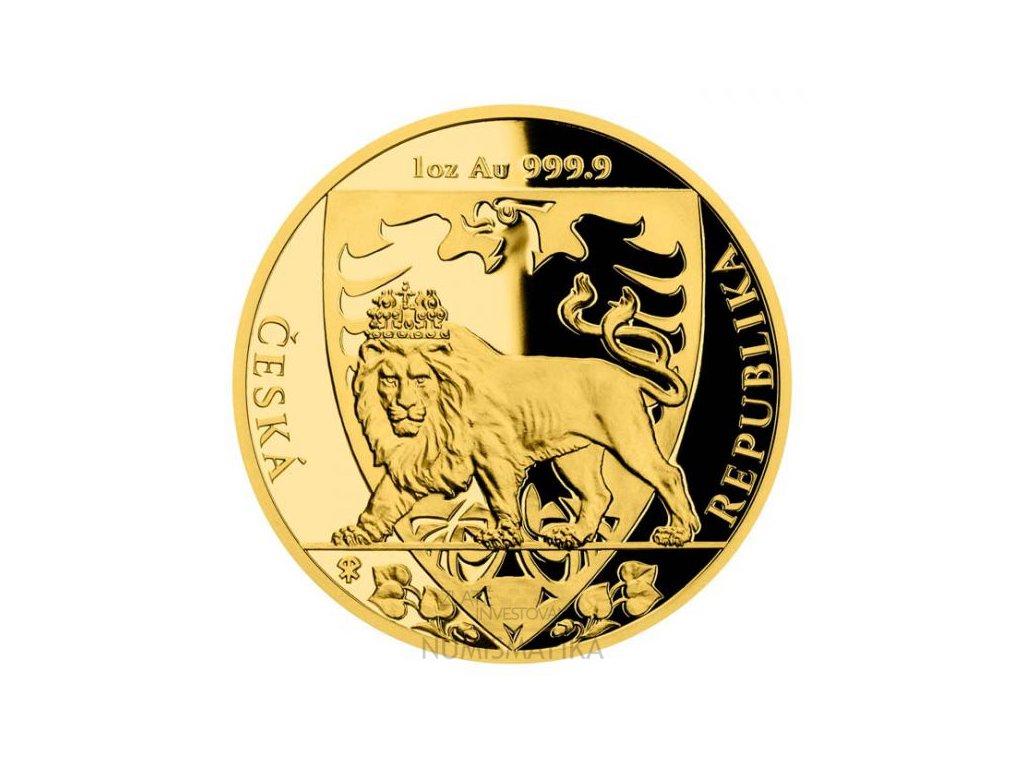 Zlatá mince český lev 1 Oz-2020