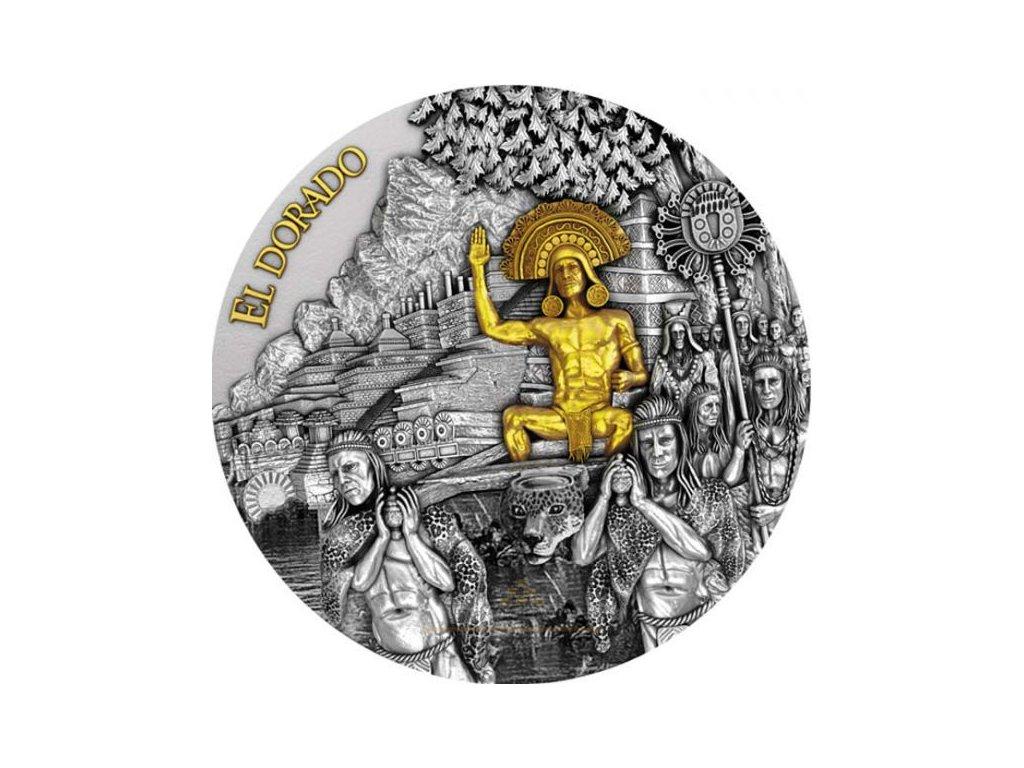 Stříbrná moderní mince El Dorado 2 Oz 2020
