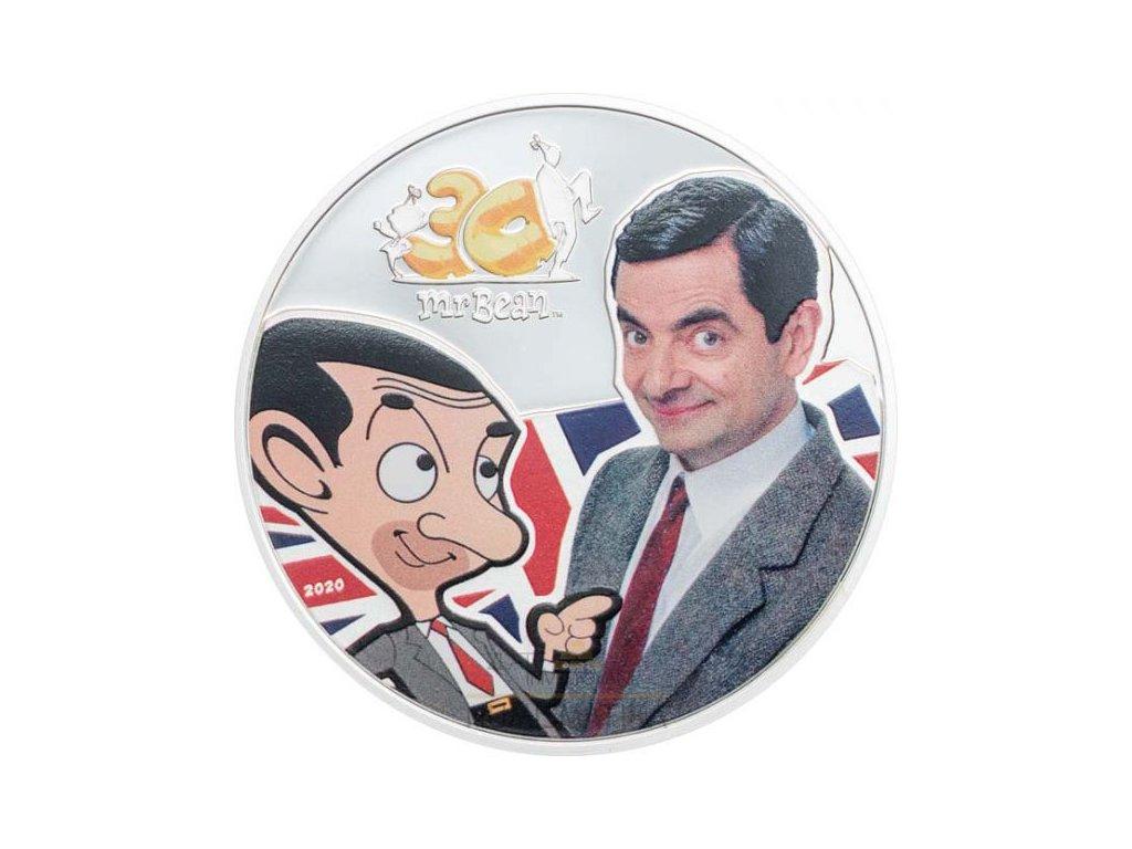 Stříbrná moderní mince Mr. Bean 1 Oz proof 2020