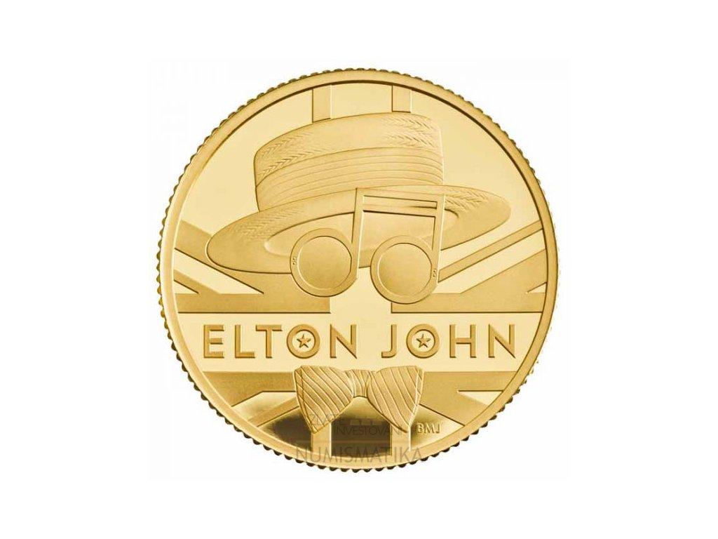Zlatá moderní mince Elton John 7,8 g proof 2020