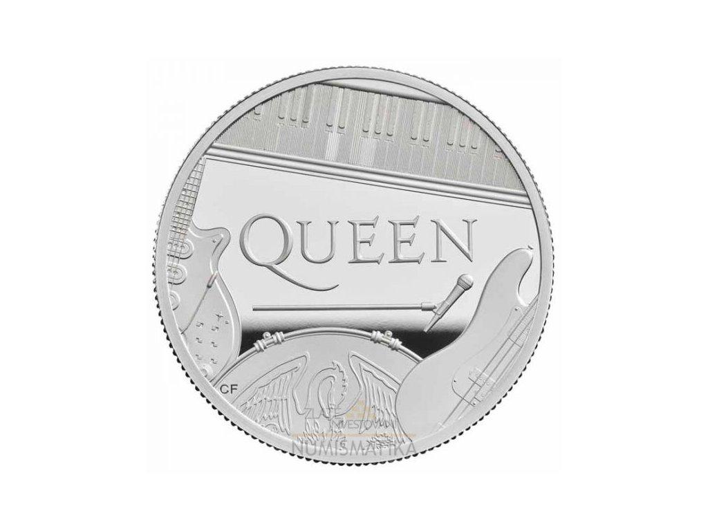 Stříbrná moderní mince Queen 5 Oz proof 2020