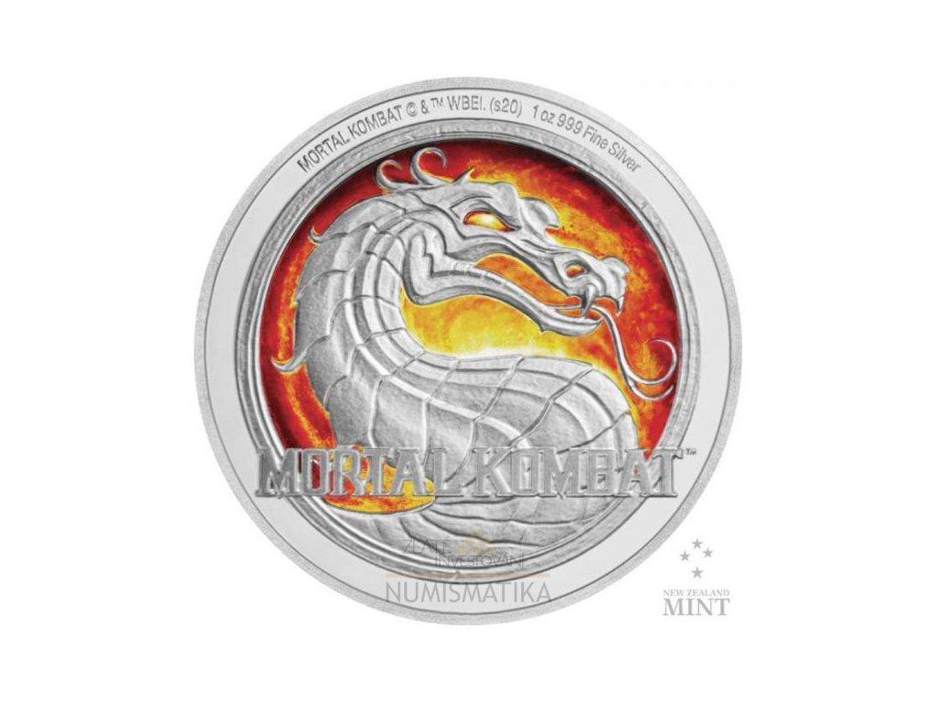 Stříbrná moderní mince Mortal Kombat 1 Oz proof 2020