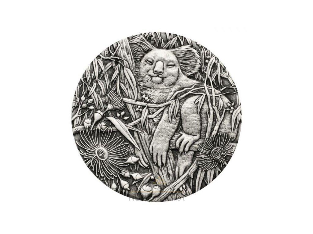 Stříbrná moderní mince Koala 2 Oz Antiqued 2017