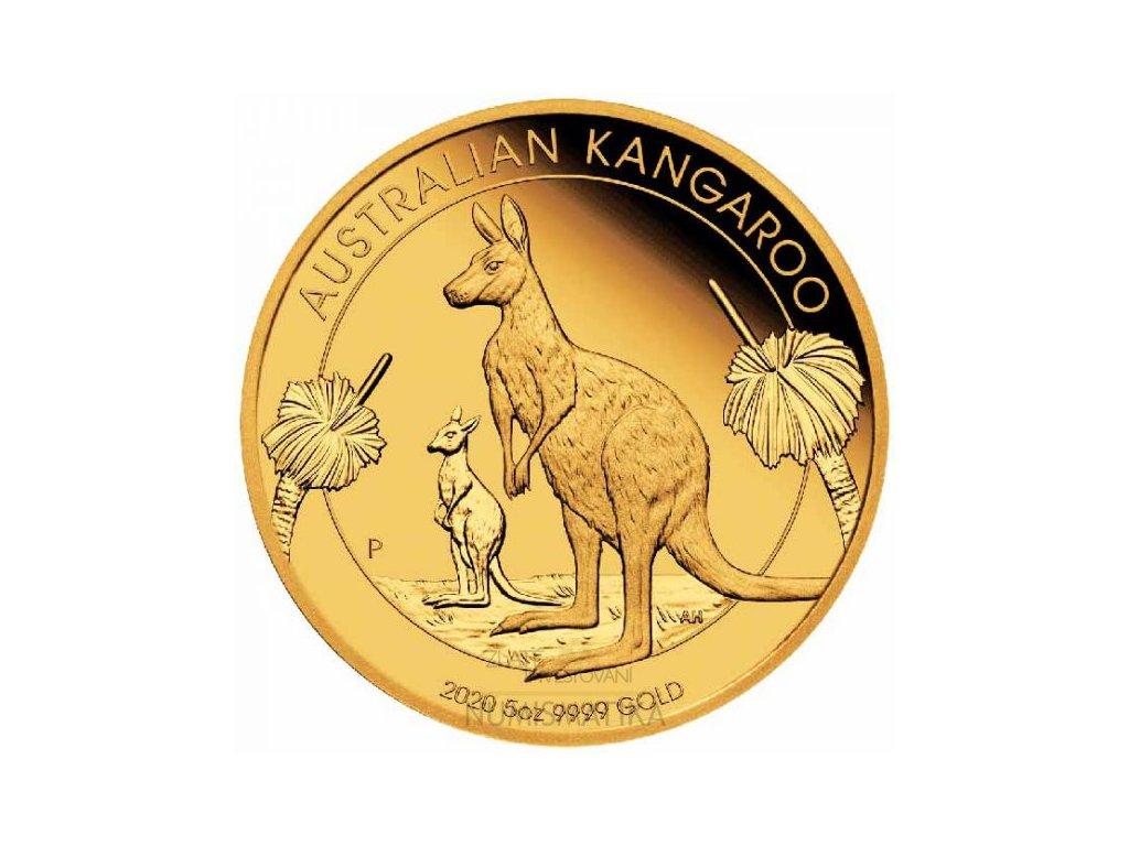 Zlatá moderní mince Klokan Oz 2020 Proof