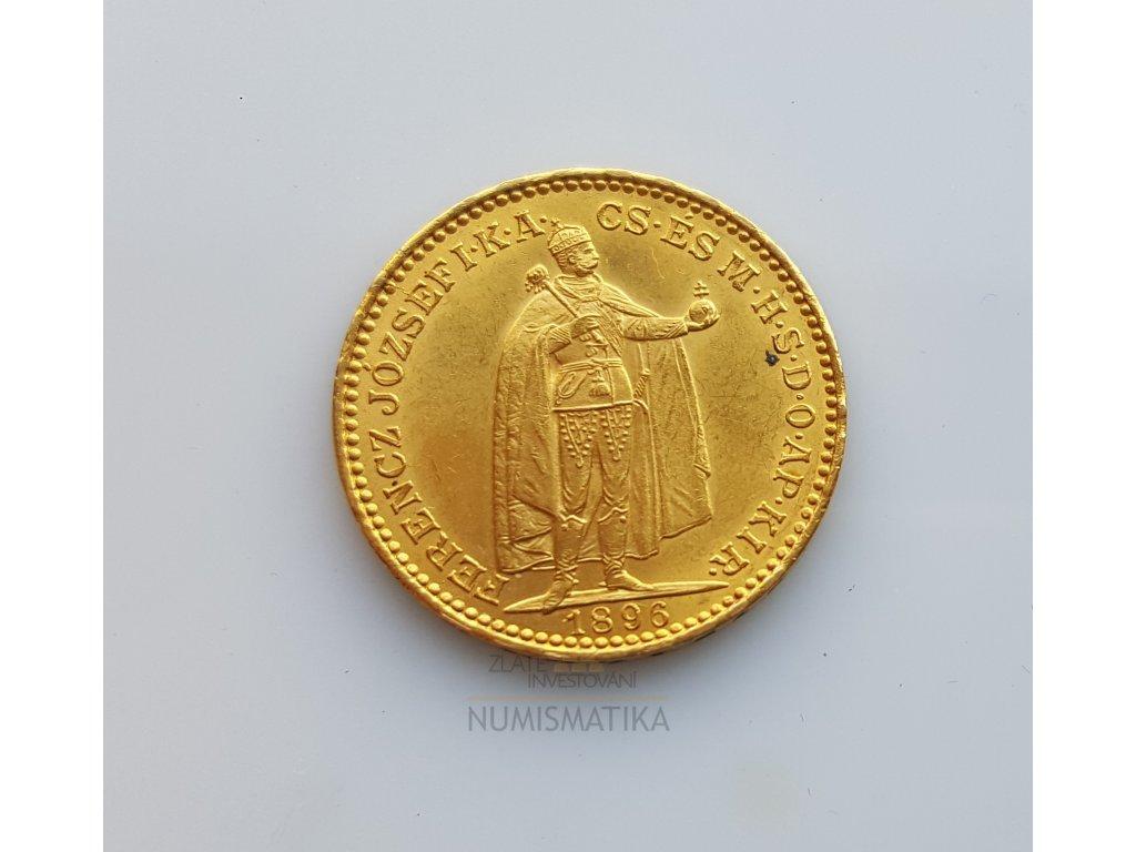 Zlatá 20koruna 1896 K.B