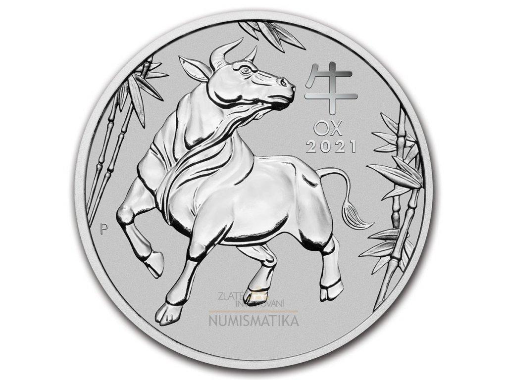 Platinová mince rok Býka 2021-1 Oz