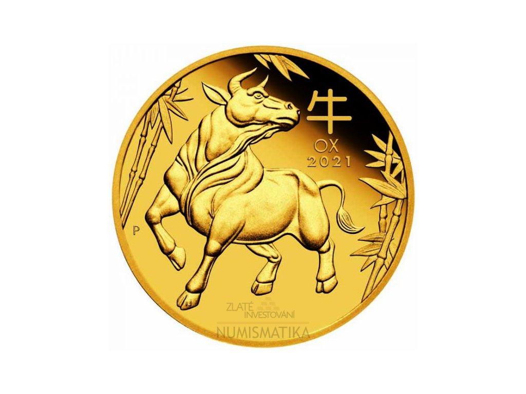 Zlatá mince rok Býka 2021-1/10 Oz