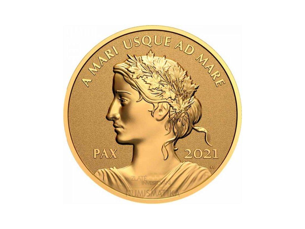 Zlatá moderní mince Peace Dollar 1 Oz proof 2021