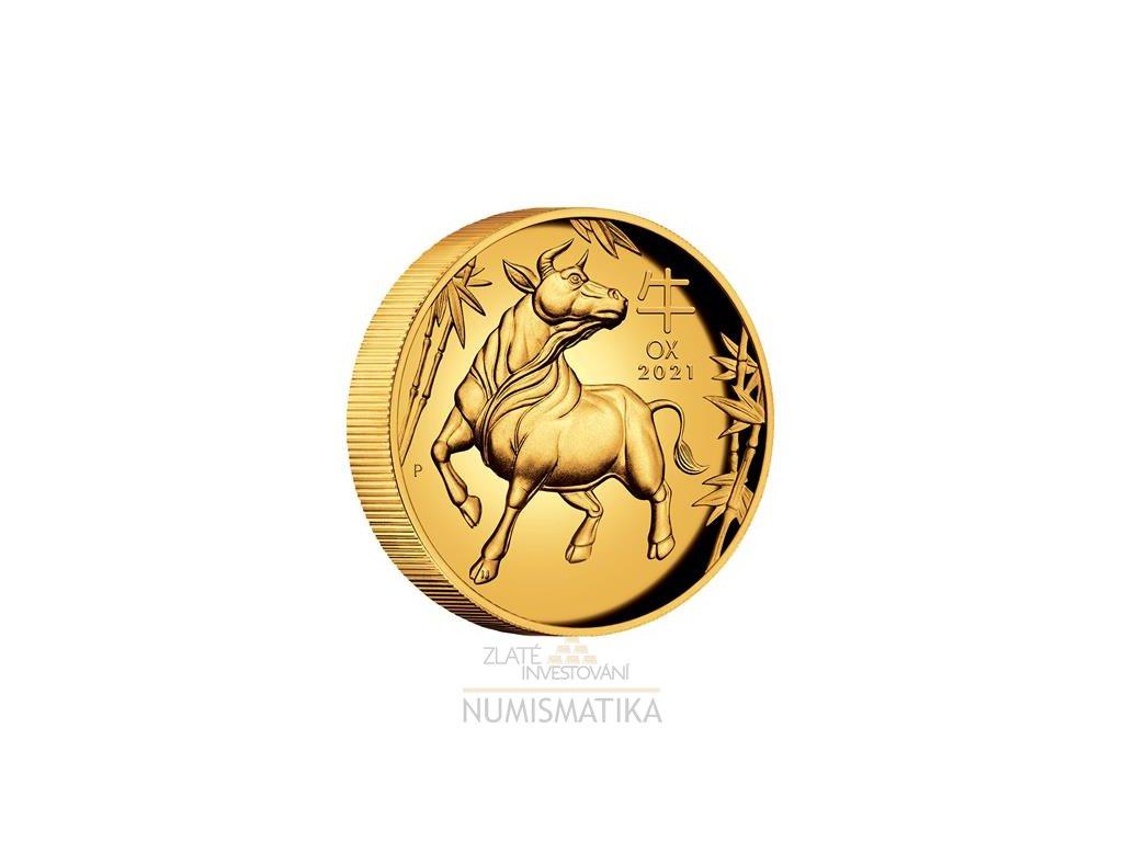 Zlatá mince Rok býka 2021-1 Oz proof HR-lunární série III.