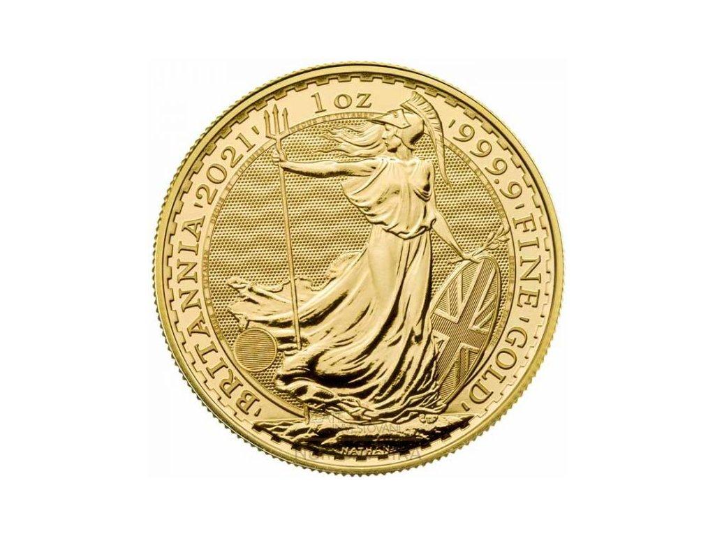 Zlatá investiční mince Britannia 1 Oz 2021