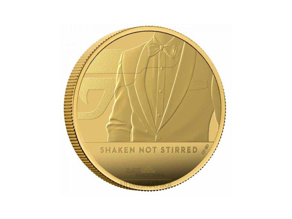 Zlatá moderní mince James Bond Protřepat, Nemíchat 1 Oz proof 2020