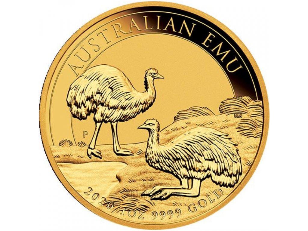 Zlatá investiční mince Emu 1 Oz 20201