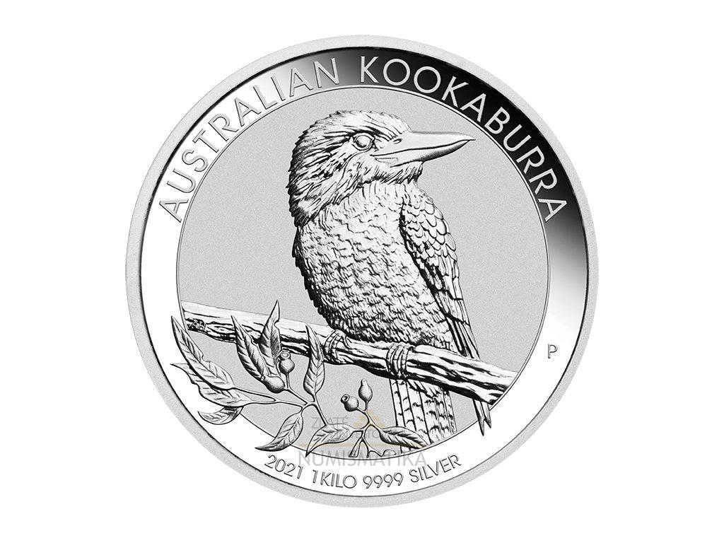 Stříbrná mince 1 kg Kookaburra 2021