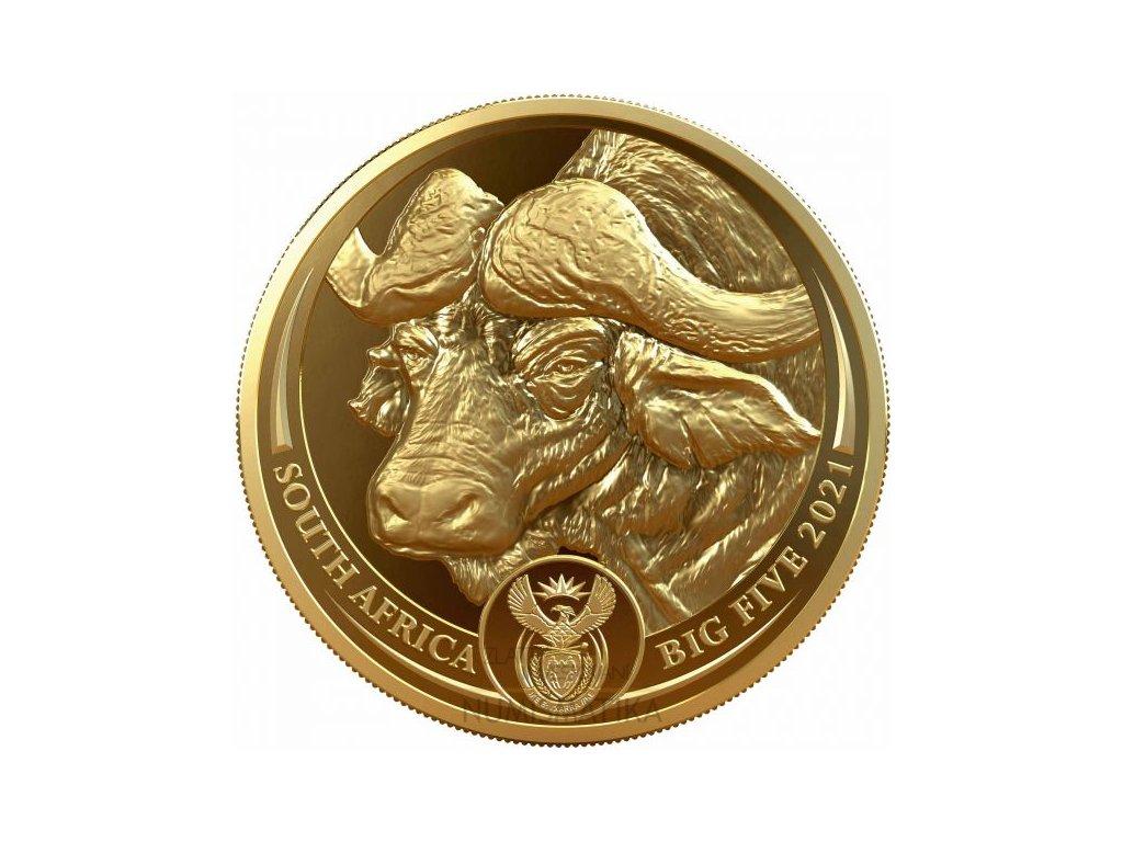 Moderní zlatá mince Buffalo - Big Five 1 Oz 2021 proof