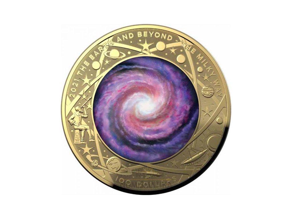 Zlatá moderní mince The Earth and Beyond 1 Oz proof 2021