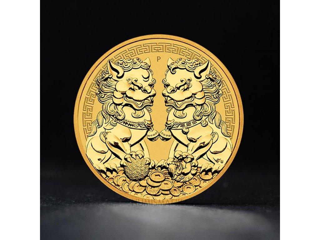 Zlatá investiční mince 1 OZ double Pixiu 2021