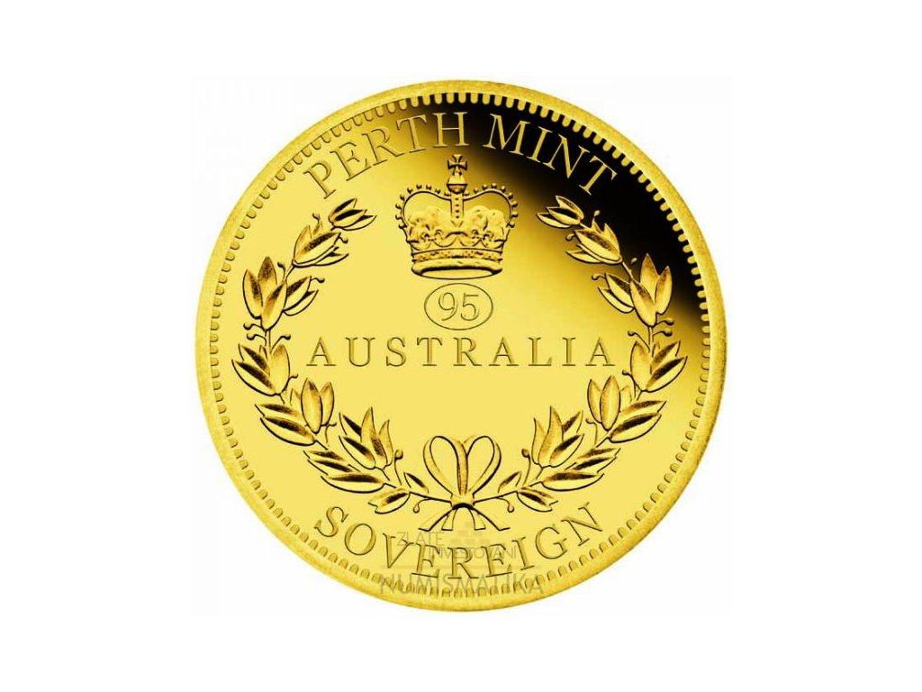 Zlatá mince Australský Sovereign 2021 proof 7.98 g