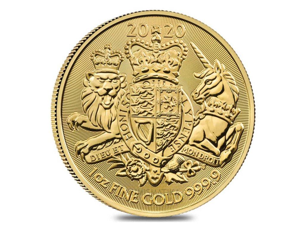 Investiční zlatá mince Britský královský erb - 2021 1 Oz