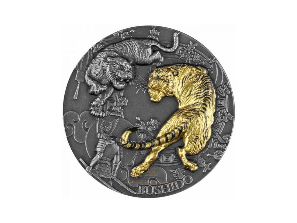 Stříbrná moderní mince Bushido 2 Oz 2021
