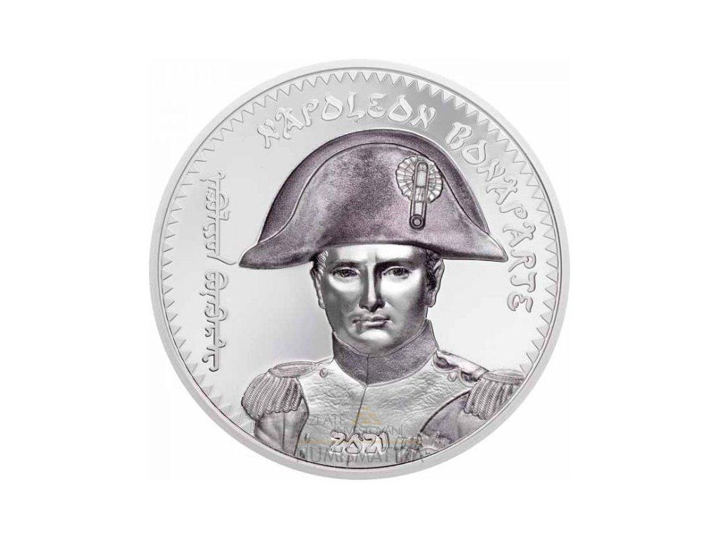 Stříbrná moderní mince Napoleon Bonaparte 1 Oz 2021