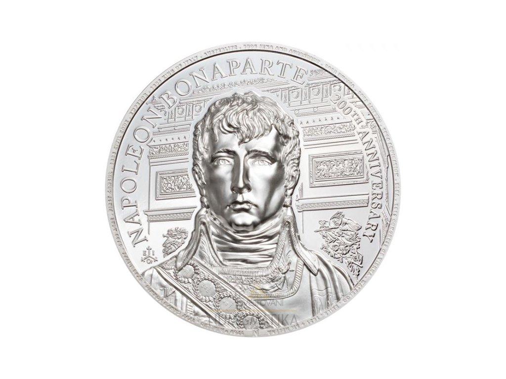 Střibrná moderní mince Bapoleon Bonaparte 2 Oz proof 2021