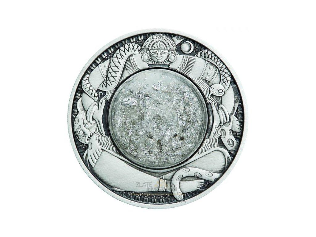 Stříbrná moderní mince Měsíční slzy 2 Oz 2021